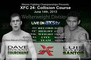 XFC 24 Dave Courchaine vs Luis Santos Live on Axstv Article by J. Hobbs